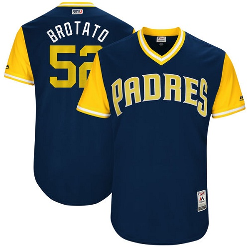 Men's Majestic San Diego Padres #52 Brad Hand