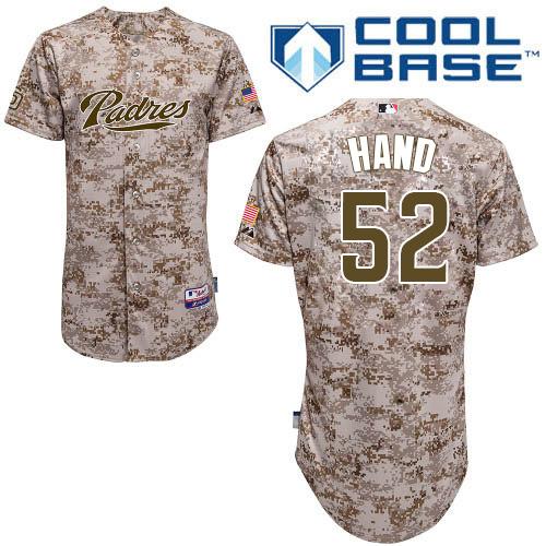 Men's Majestic San Diego Padres #52 Brad Hand Replica Camo Alternate 2 Cool Base MLB Jersey