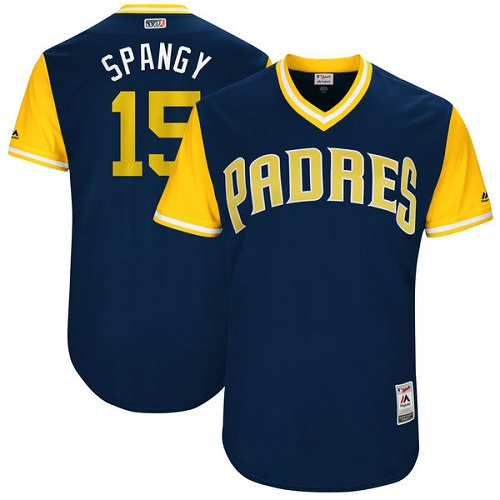 Men's Majestic San Diego Padres #15 Cory Spangenberg