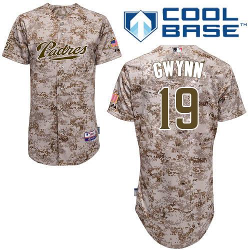 Men's Majestic San Diego Padres #19 Tony Gwynn Replica Camo Alternate 2 Cool Base MLB Jersey