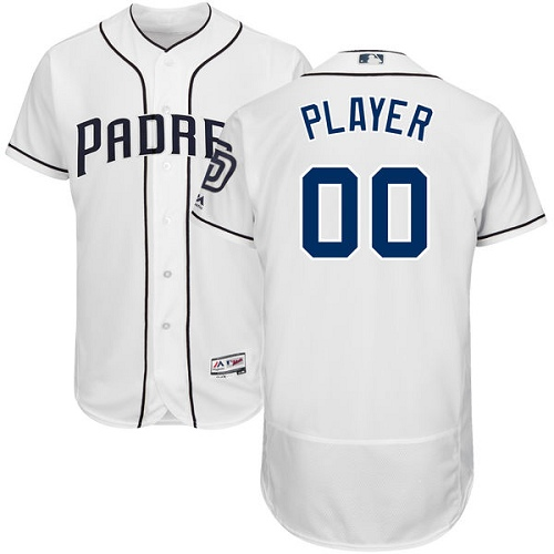Men's Majestic San Diego Padres Customized White Home Flex Base Authentic Collection MLB Jersey