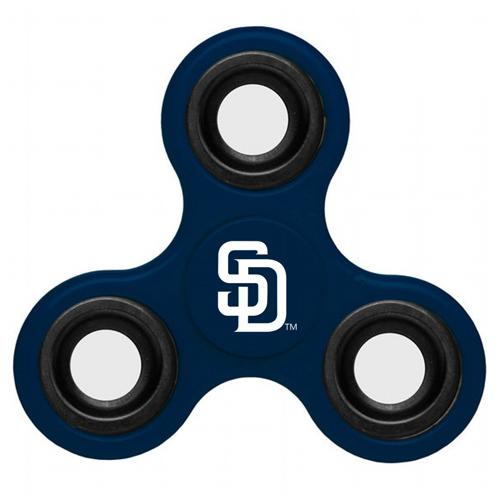 MLB San Diego Padres 3 Way Fidget Spinner B61 - Navy