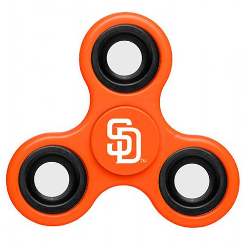 MLB San Diego Padres 3 Way Fidget Spinner E61 - Orange