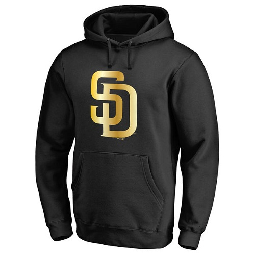 MLB San Diego Padres Gold Collection Pullover Hoodie - Black