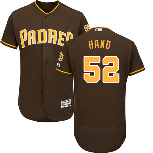 Men's Majestic San Diego Padres #52 Brad Hand Brown Flexbase Authentic Collection MLB Jersey