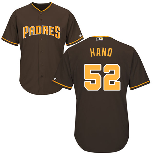 Men's Majestic San Diego Padres #52 Brad Hand Replica Brown Alternate Cool Base MLB Jersey