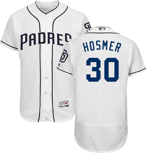 Men's Majestic San Diego Padres #30 Eric Hosmer White Home Flex Base Authentic Collection MLB Jersey
