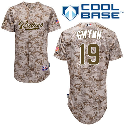 Men's Majestic San Diego Padres #19 Tony Gwynn Authentic Camo Alternate 2 Cool Base MLB Jersey