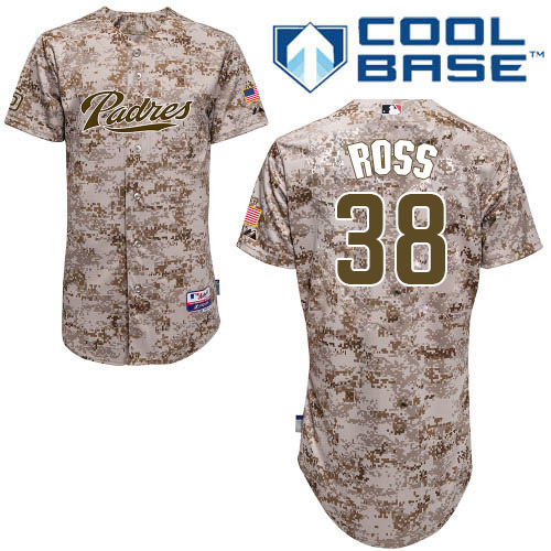 Men's Majestic San Diego Padres #38 Tyson Ross Authentic Camo Alternate 2 Cool Base MLB Jersey