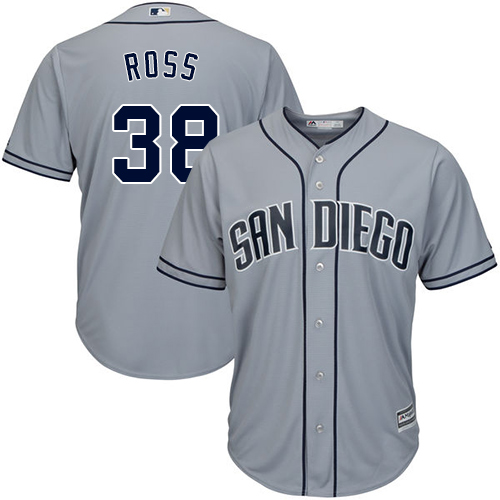 Men's Majestic San Diego Padres #38 Tyson Ross Replica Grey Road Cool Base MLB Jersey