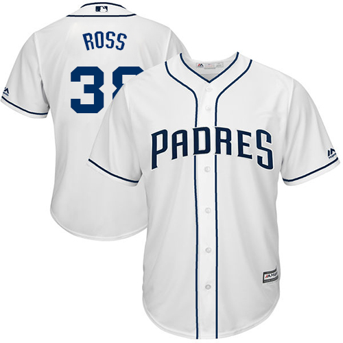 Men's Majestic San Diego Padres #38 Tyson Ross Replica White Home Cool Base MLB Jersey