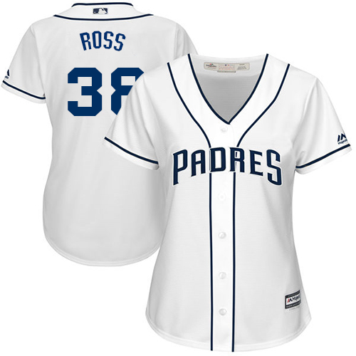 Women's Majestic San Diego Padres #38 Tyson Ross Authentic White Home Cool Base MLB Jersey