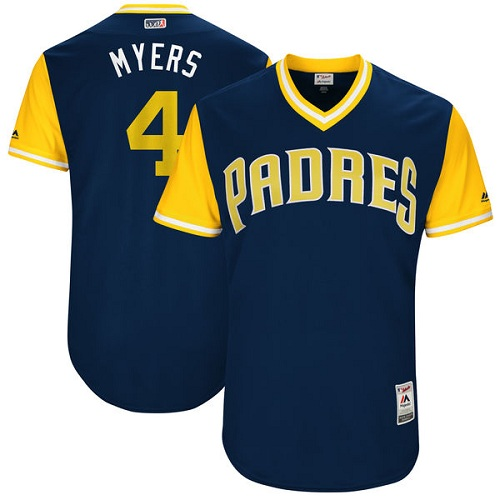 Men's Majestic San Diego Padres #4 Wil Myers