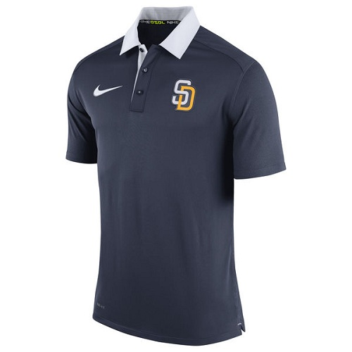 MLB Men's San Diego Padres Nike Navy Authentic Collection Dri-FIT Elite Polo