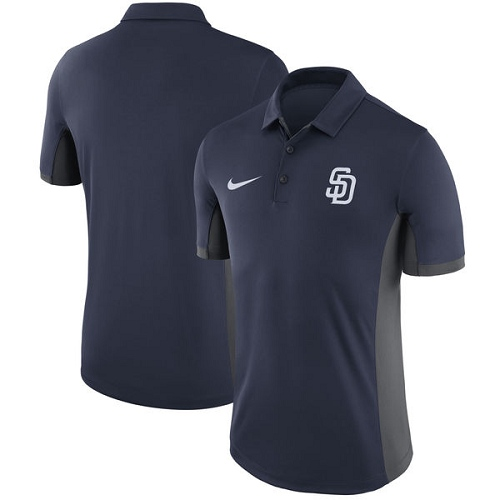 MLB Men's San Diego Padres Nike Navy Franchise Polo T-Shirt